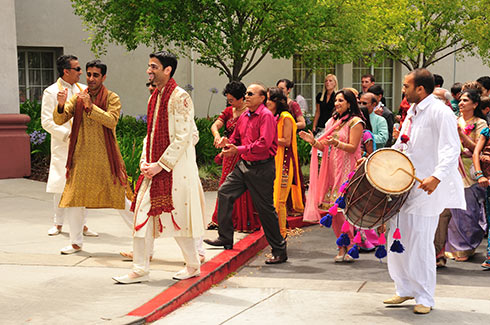 Baraat wedding ceremony in the Bay Area