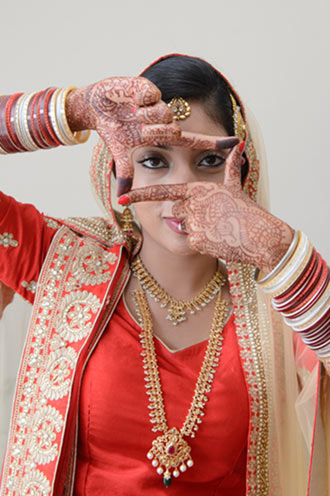 Indian bride with henna